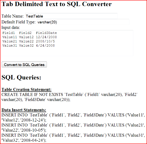 Example usage of the conversion script